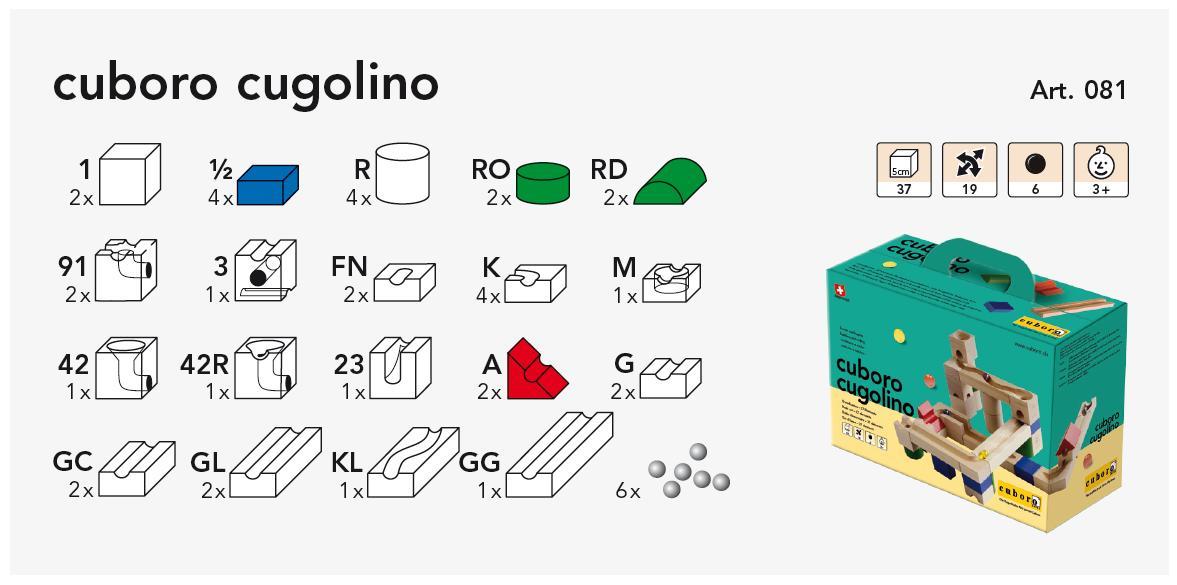 cuboro cugolino Grundkasten 081 Kasteninhalt