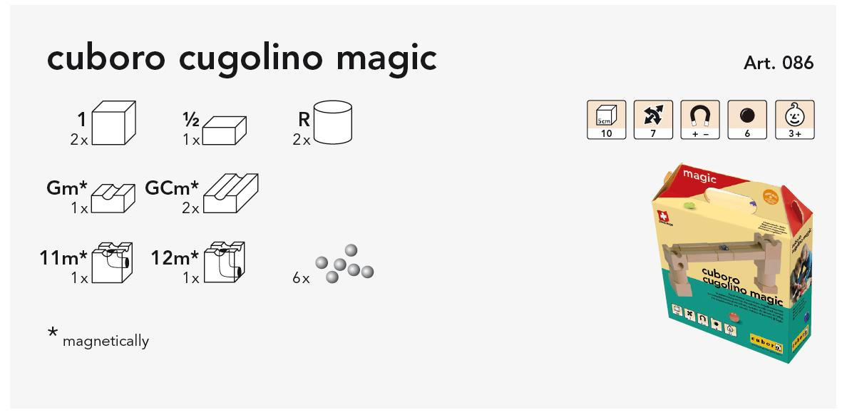 cuboro cugolino magic Kasteninhalt