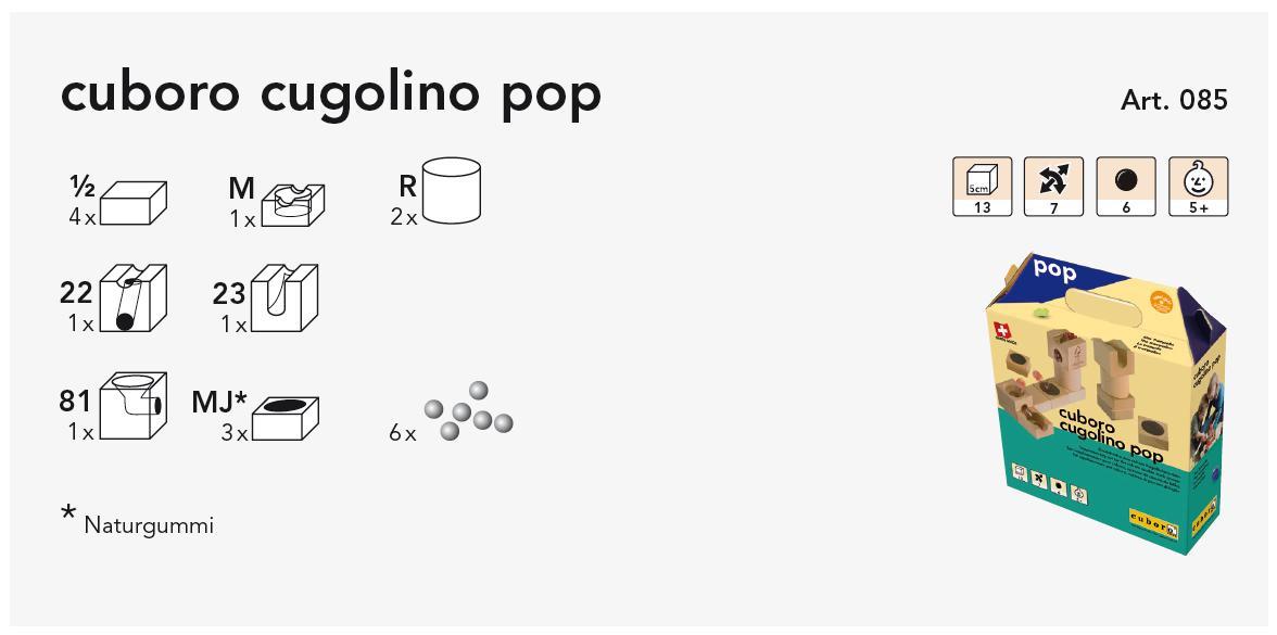 cuboro cugolino pop Kasteninhalt