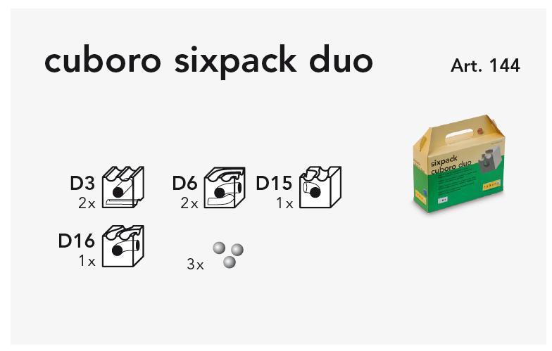 cuboro sixpack duo Kasteninhalt