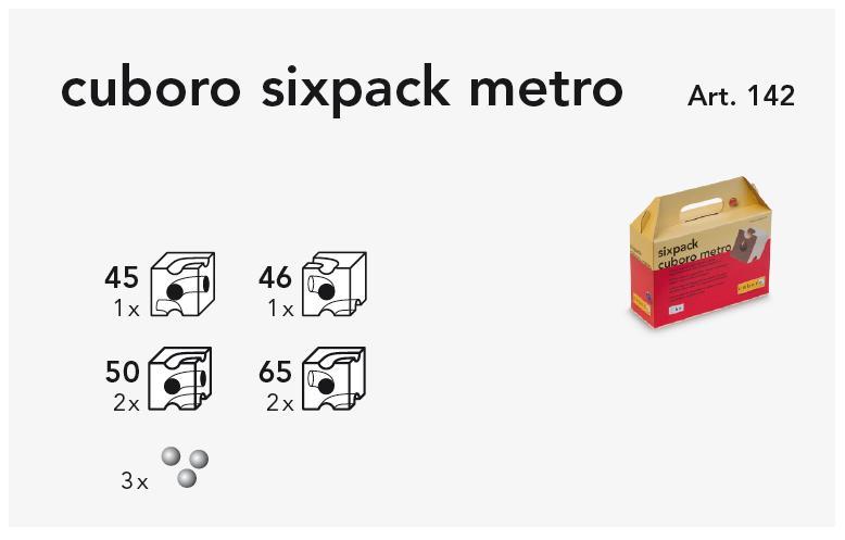 cuboro sixpack metro Kasteninhalt