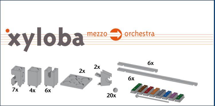 Xyloba mezzo zu orchestra Kugelbahn Erweiterung - 62 Teile